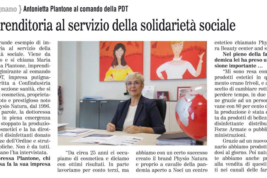 Imprenditoria al servizio della solidarietà sociale