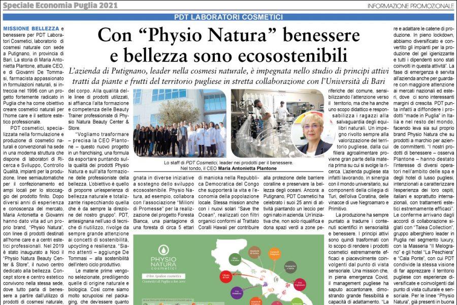 """Con """"Physio Natura"""" benessere e bellezza sono ecosostenibili"""